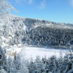 vue du lac noir en hiver